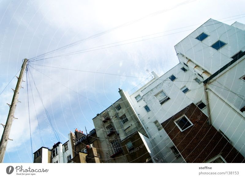 Full power Brighton England Coast House (Residential Structure) Electricity Transmission lines Electricity pylon