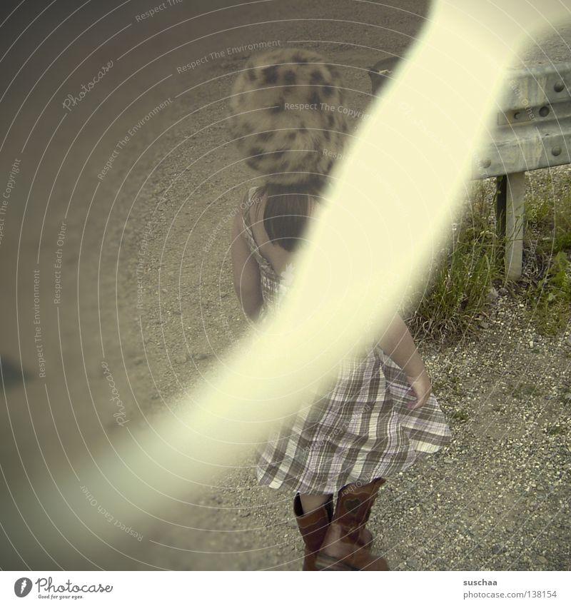 Child Funny Floor covering Dress Stripe Cap Boots Sporting event Strange Gravel Competition Overexposure Error