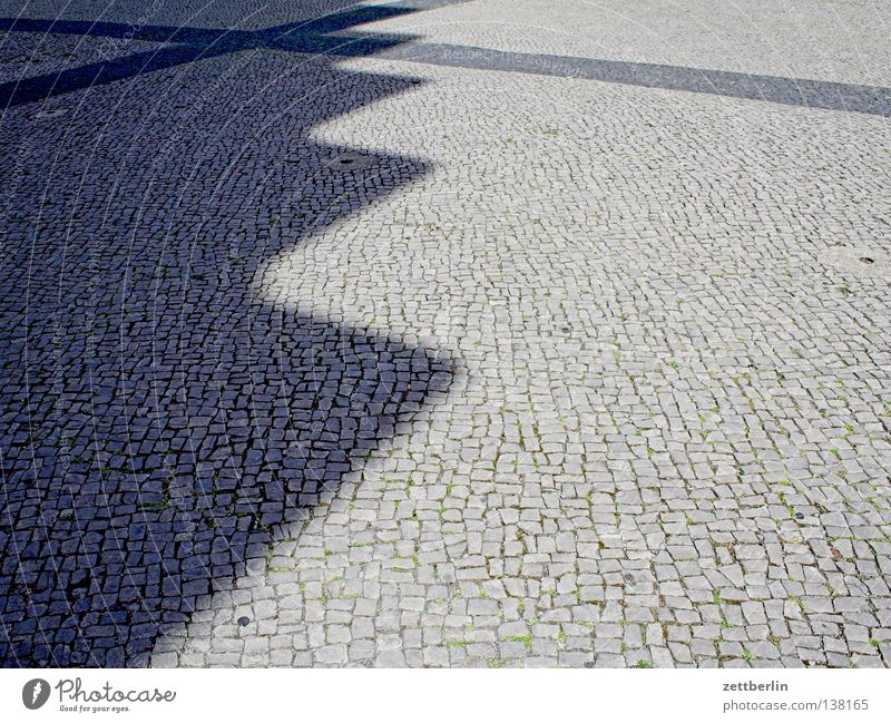 TU Berlin, TEL Pavement Beach Sidewalk Places Traffic infrastructure Cobblestones forecourt Shadow Prongs zigzag shadow Paving stone Stairs