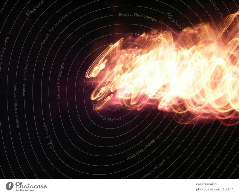 fiery Light Night Blaze Warmth