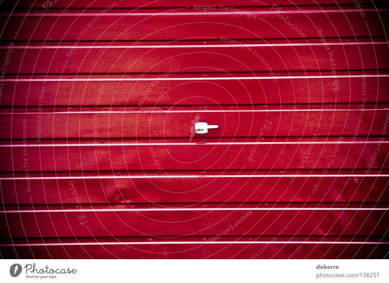 Red Colour Gate Garage Surface Tin
