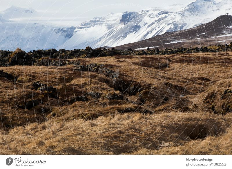 Vacation & Travel Far-off places Winter Mountain Rock Tourism Adventure Iceland Snæfellsnes