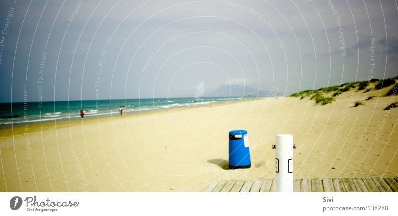 Ocean Green Blue Summer Beach Yellow Trash container