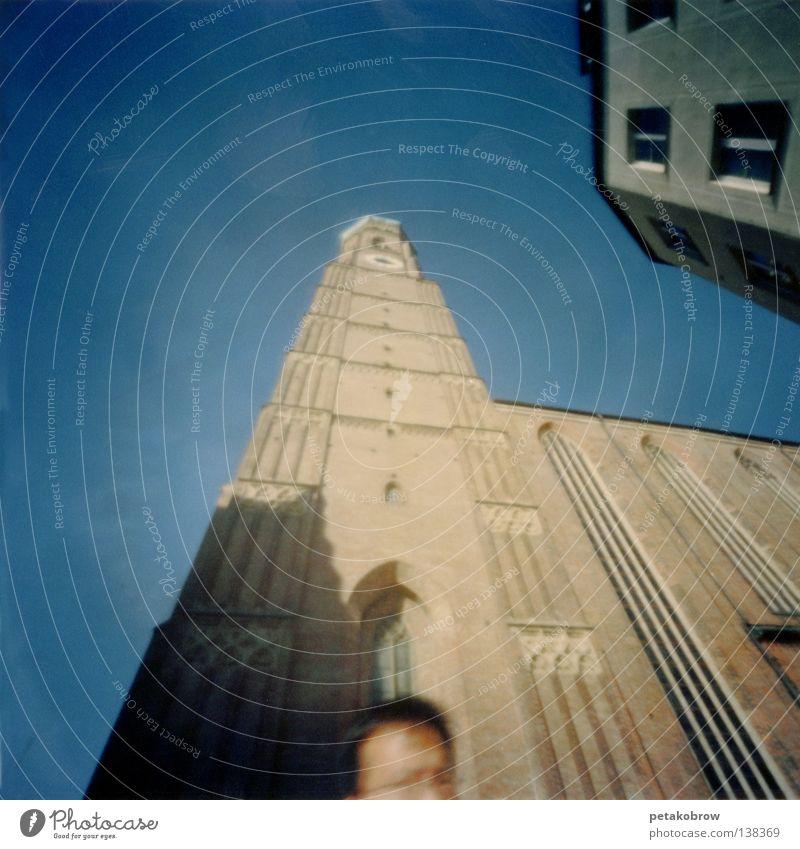 Hole patternMchn001 Munich Chinese Architecture hole pattern hole camera Frauenkirche Dome Sky Blue Shadow Level