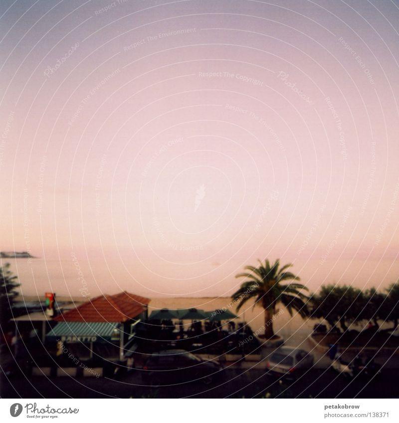 Hole patternSicily001 Ocean Sunset Palm tree Beach Moody Romance Emotions hole pattern hole camera Mondelo
