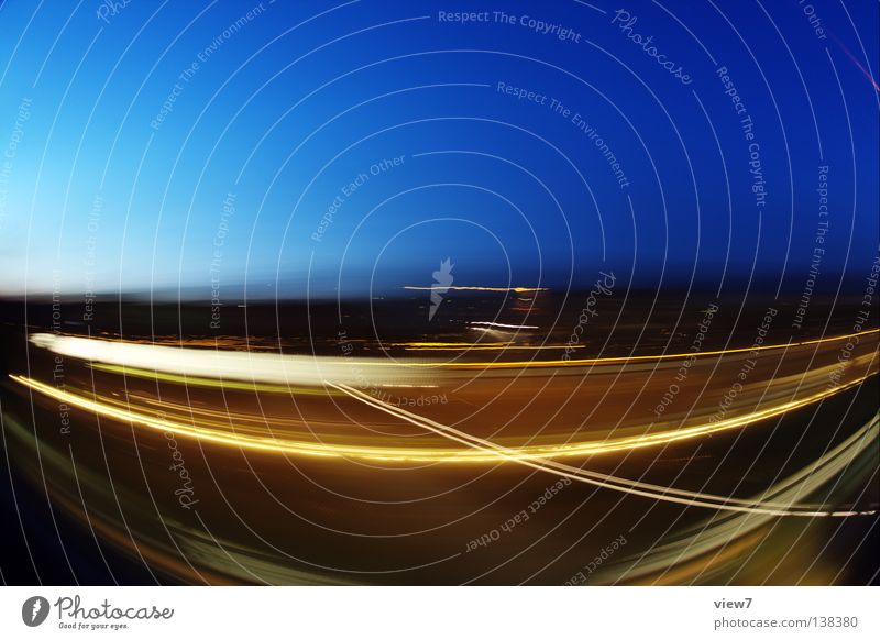 Sky Vacation & Travel Colour Playing Movement Transport Railroad Speed Driving Pure Tracks Bend Breakage Fisheye Night