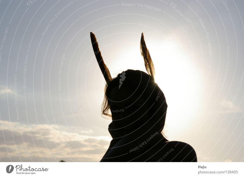 Human being Sun Easter Hare & Rabbit & Bunny Easter Bunny Shadow play