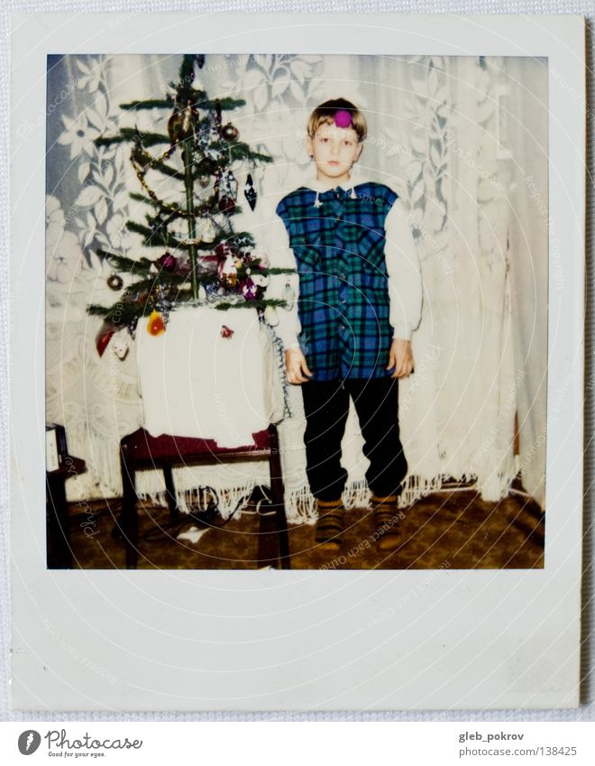Polaroid part I Portrait photograph Human being Retro Colour home boy dreams russia full lengh 6x6 new year Wall (barrier)