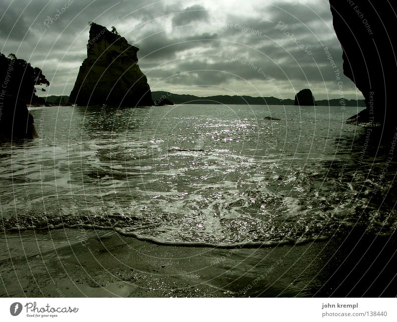 The Day After Dark Lose Loneliness Grief Doofus Aggravation Anger Ocean Lake Waves Surf Beach Coast Clouds New Zealand Cathedral Cove North Island Go under