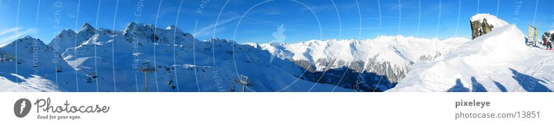 Mountain panorama Montafon Panorama (View) Winter Snow Alps Sky Large Panorama (Format)