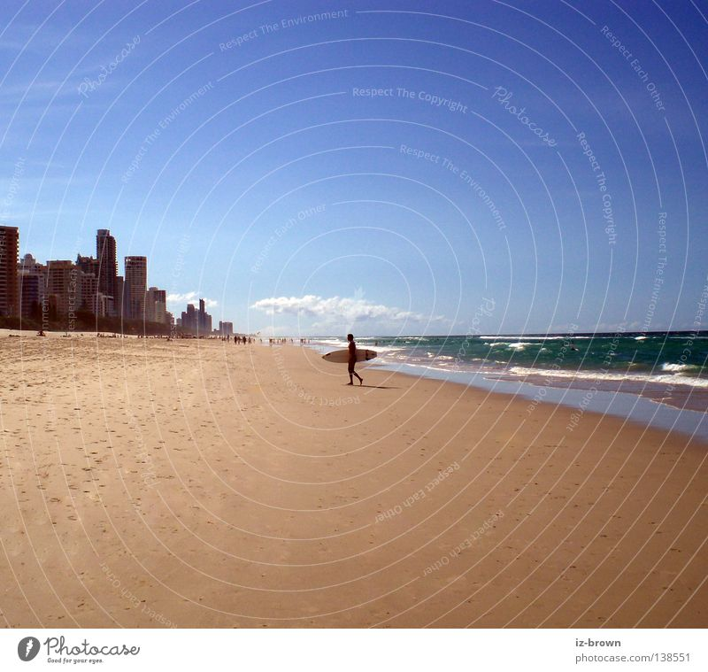 surfer Beach Waves Far-off places Places Surfer Ocean Sports Playing Sand Free Room Cool (slang) Surfing