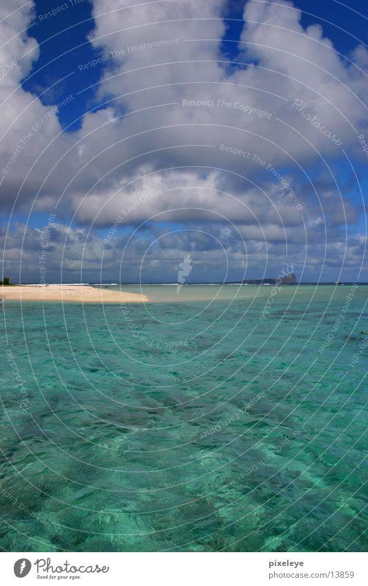 Water Ocean Beach Clouds Munich Dream island Mauritius