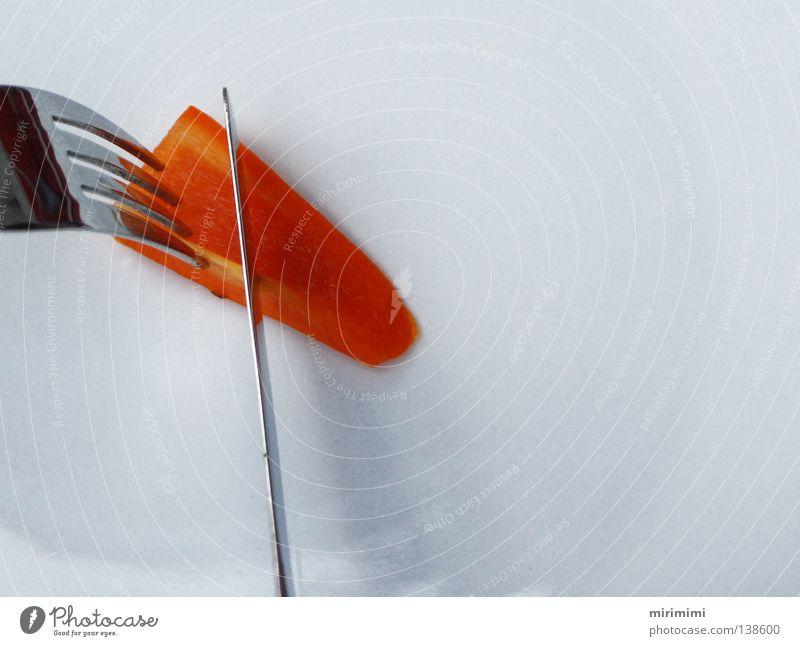 White Eating Orange Nutrition Plate Knives Fork Pepper Cutlery