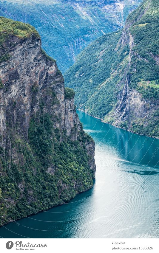 Geirangerfjord Relaxation Vacation & Travel Mountain Nature Landscape Water Clouds Fjord Idyll Tourism Norway Møre og Romsdal destination Sky voyage Sunnmøre
