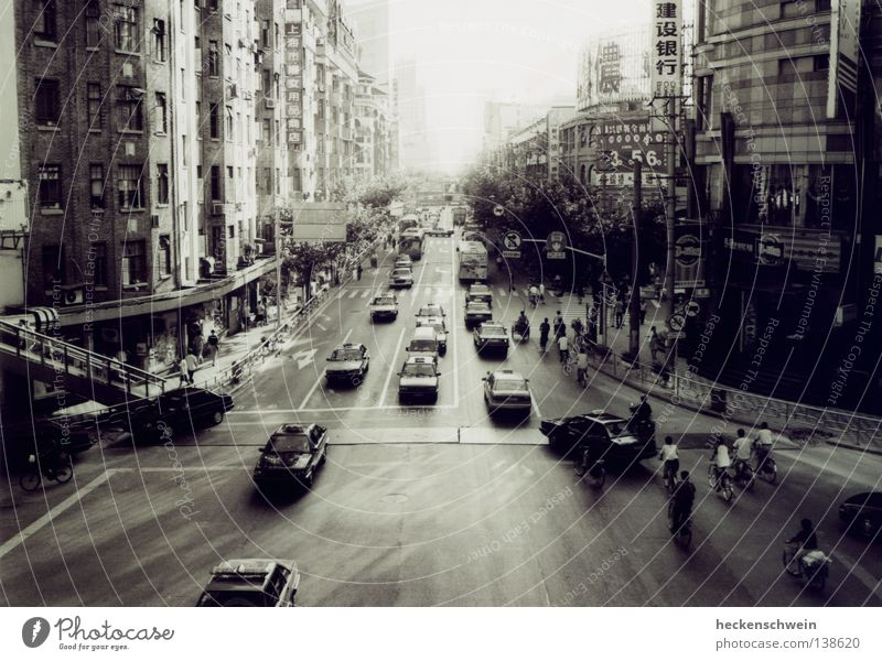 Sun Street Car Work and employment Transport High-rise Asia China Black & white photo Traffic infrastructure Sporting event Mixture Competition Taxi Diligent