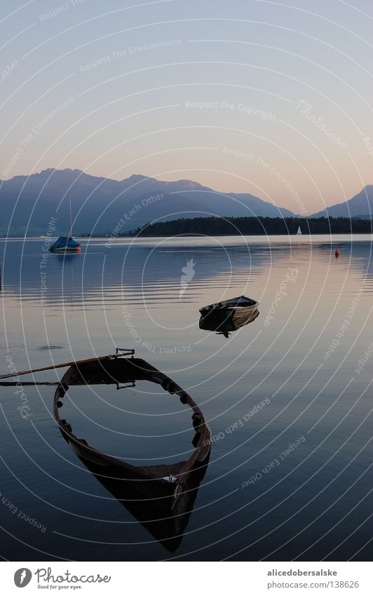 draft2 Lake Watercraft Flood Sunset Mirror Calm Forest Stripe Long High tide Evening Mountain Shadow Orange Blue Sky Joy