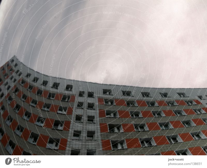 flat Lichtenberg Sky Beautiful weather built Facade Window conceit Tall chill Modern Above Round Moody Surrealism Undulating Tower block Ambitious Geometry