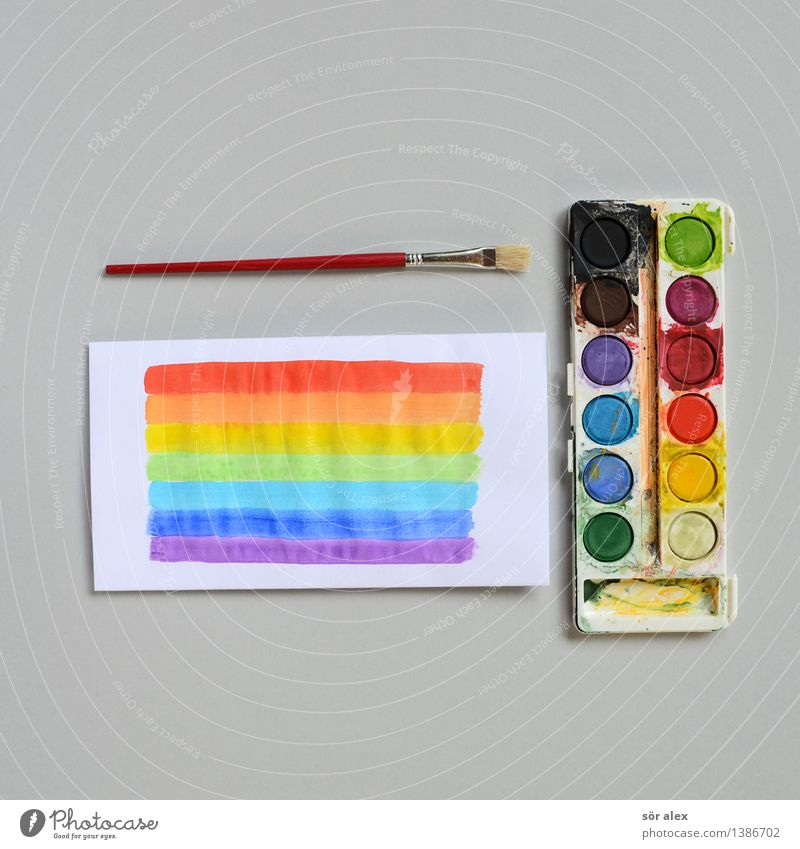 art course Parenting Education Kindergarten Child School Study Paintbox Paintbrush Paper Watercolor Multicoloured Design Colour Inspiration Infancy Creativity