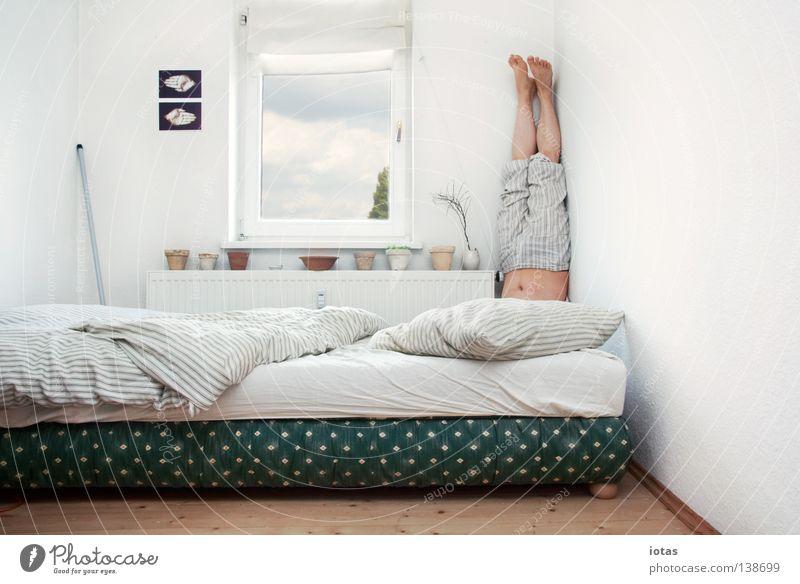 Man Joy Calm Funny Room Flat (apartment) Masculine Exceptional Sleep Stand Corner Bed Meditation Yoga Bedroom Human being
