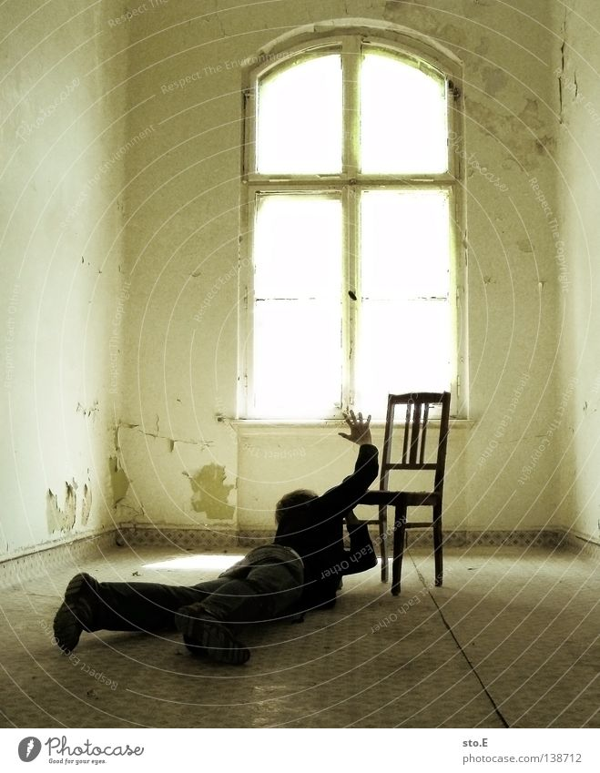 Human being Man Black Calm Window Dark Building Lamp Bright Lighting Interior design Door Room Fear Lie Masculine