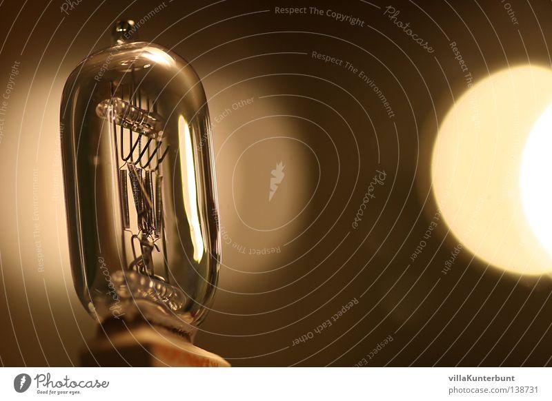 White Black Glass Glittering Statue Electric bulb Floodlight Sepia