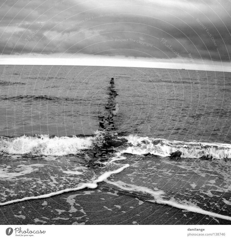 Nature Sky Ocean Beach Clouds Far-off places Dark Freedom Gray Moody Coast Weather Gale Seasons Baltic Sea