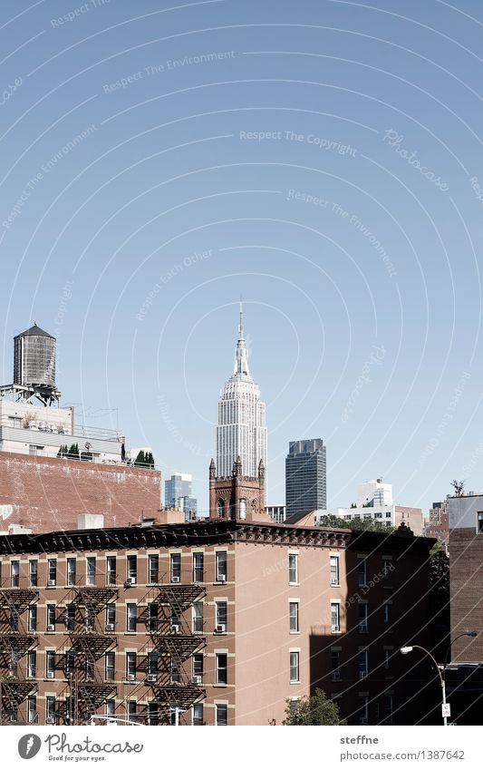 NYC |08 Freedom Town Skyline High-rise Landmark Esthetic New York City Manhattan USA City life Americas Empire State building Copy Space top Water tank
