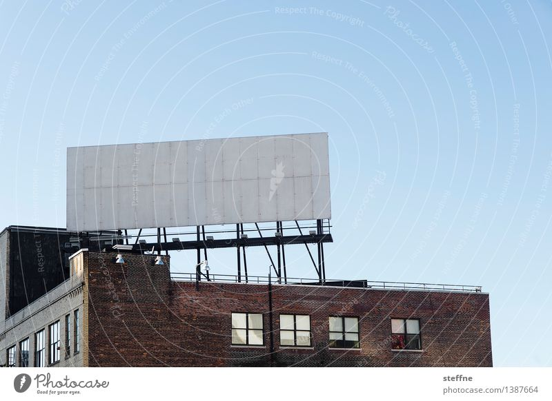 text space New York City Wall (barrier) Wall (building) Town Illustration Billboard Display Advertising Signs and labeling Copy Space Brick facade