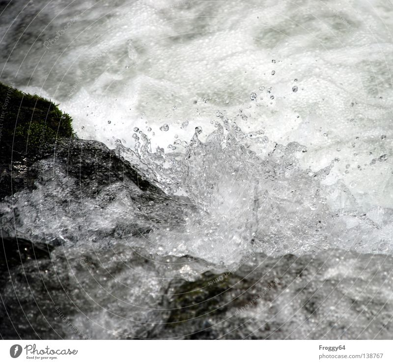 Water White Summer Black Cold Mountain Stone Rock River Blow Navigation Brook Air bubble Foam Mountain stream Whitewater