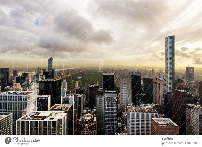 City Clouds Exceptional High-rise Esthetic Beautiful weather USA Skyline Manhattan New York City Central Park