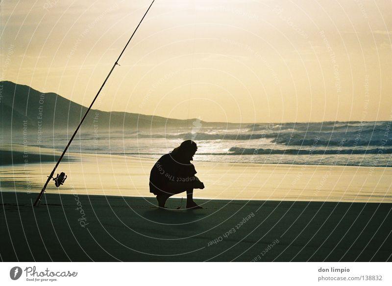 Ocean Beach Waves Leisure and hobbies Analog Bay Angler Fishing rod Fuerteventura Hissing