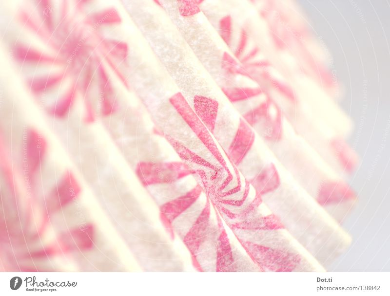White Bright Waves Pink Paper Retro Decoration Pattern Umbrella Delicate Obscure Wrinkles Depth of field Edge Spiral
