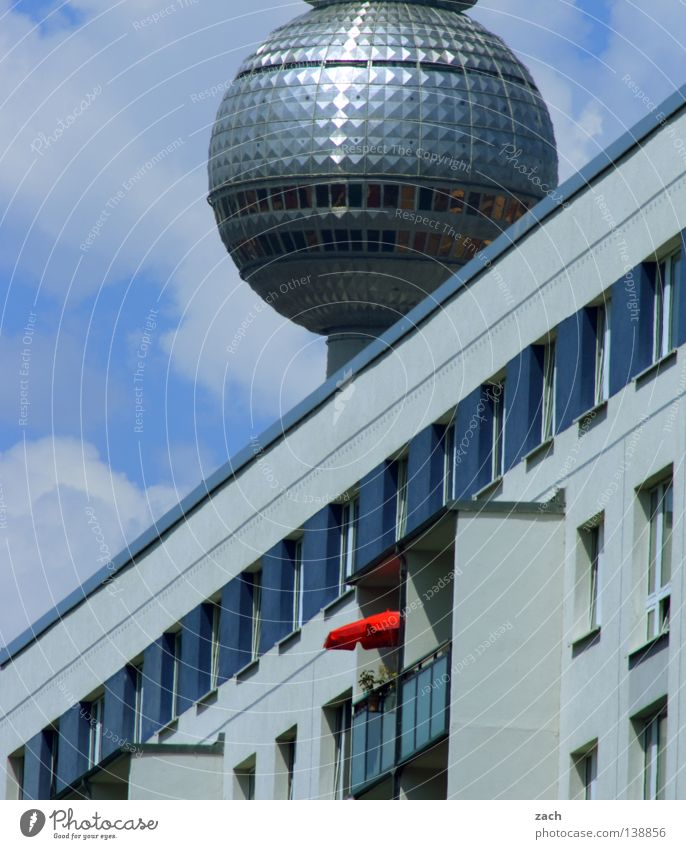 Earth sphere Town High-rise Sunshade Diagonal UFO Landmark Monument Berlin Berlin TV Tower Prefab construction telespargel Sphere Ball