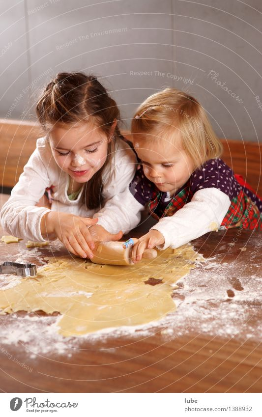 Christmas Bakery II Food Nutrition Parenting Internship Girl Brothers and sisters Infancy Work and employment Dirty Joy Happy Happiness Contentment