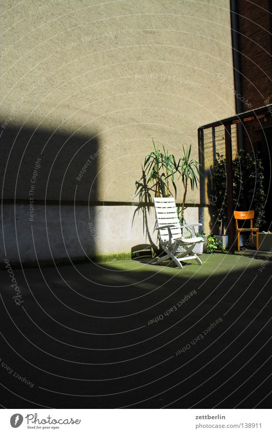Sunbed - 850 Backyard House (Residential Structure) Town house (City: Block of flats) Sunspot Cozy Tanning bed Deckchair Palm tree Houseplant Schöneberg