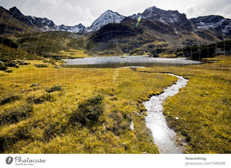 Sky Nature Plant Blue Water Landscape Clouds Mountain Environment Autumn Meadow Grass Lake Brown Rock Horizon
