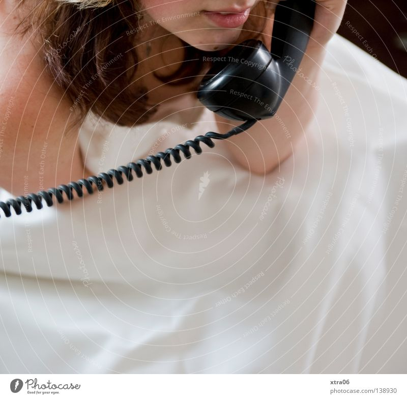 White Telephone Dress Tradition Woman Bride To call someone (telephone) Old fashioned Wedding dress