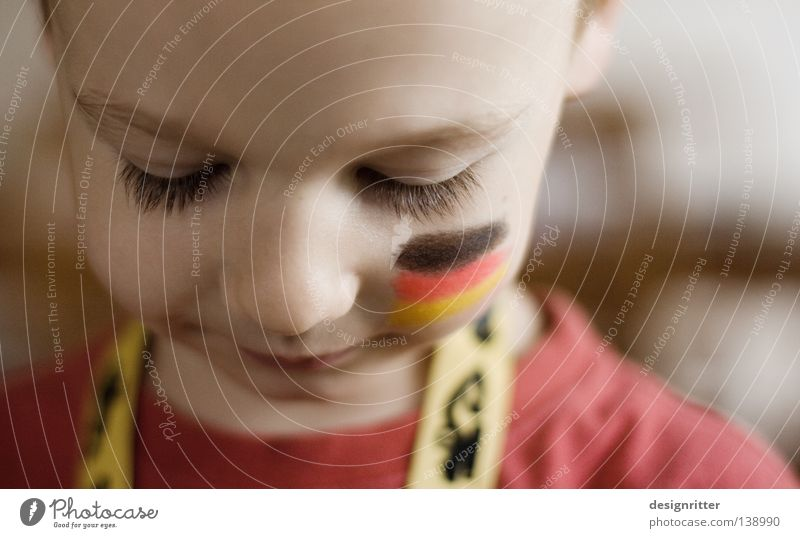 Child Colour Red Black Yellow Face Boy (child) Germany Gold Electricity Europe Flag Trust World Cup Brave Enthusiasm