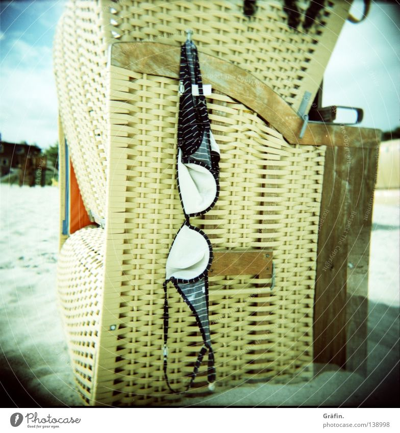 elephant sunglasses Bikini Bra Top Forget Hang Hang up Reticular Basket Swimwear Clothing Beach Ocean Summer Sun Holga Medium format Sandy beach