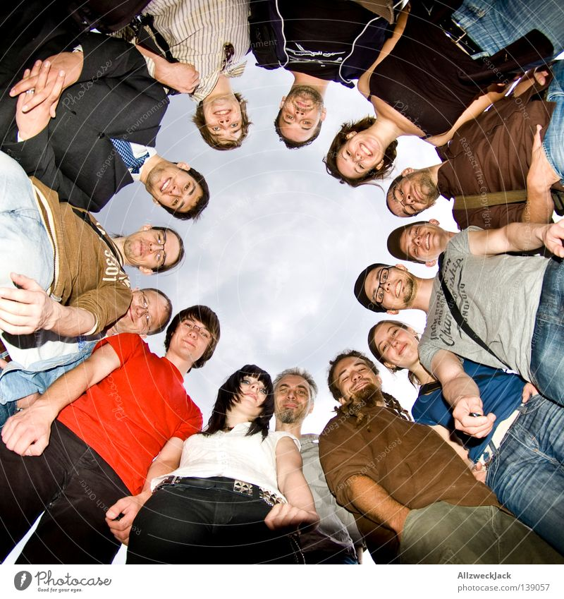 Human being Joy Group Friendship Leisure and hobbies Circle Round Environment Emotions Structures and shapes Group photo