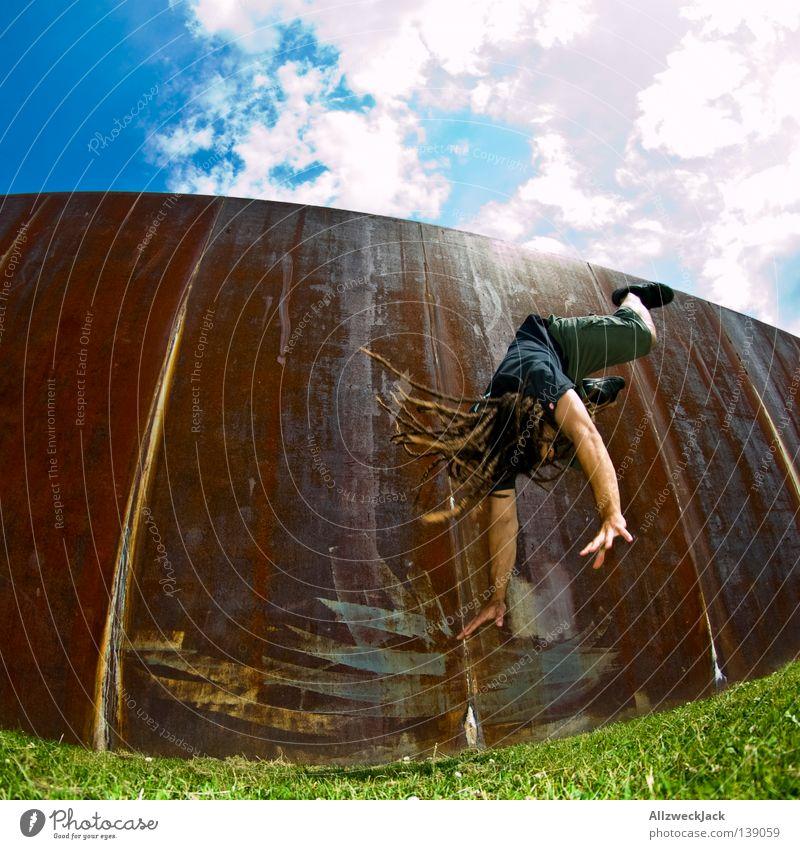 Man Joy Berlin Capital city Coil Take a photo Gymnastics Dreadlocks Stunt Somersault