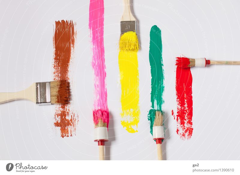 choice of colours Leisure and hobbies Redecorate Work and employment Painter Art Artist Paintbrush Brush stroke Brush handle Play of colours Colour palette Dye