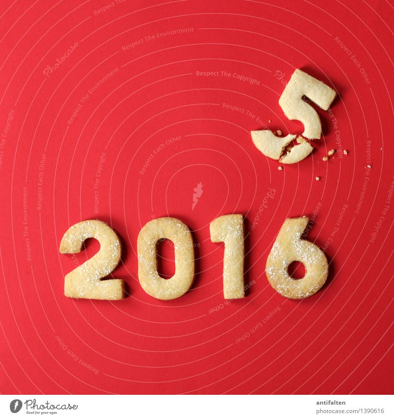 The year is crumbling Food Dough Baked goods Cake Cookie cookie dough Nutrition Eating To have a coffee Leisure and hobbies Digits and numbers 2015 2016 Year