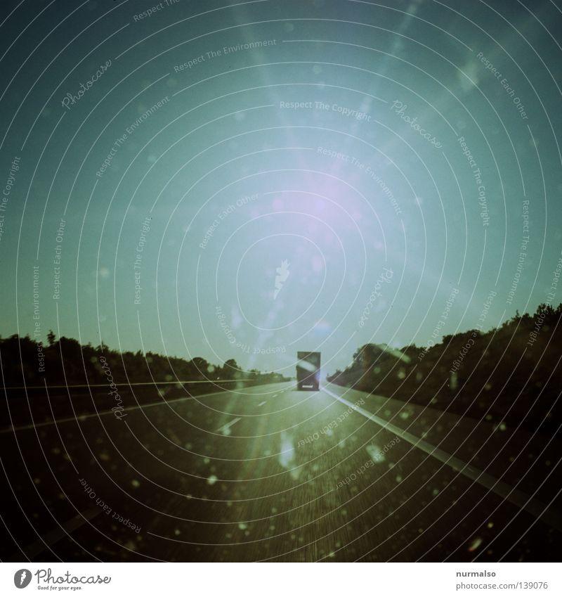 Sun Vacation & Travel Street Dream Car Lighting Speed Driving Logistics Target Asphalt Longing Truck Analog Highway Traffic infrastructure