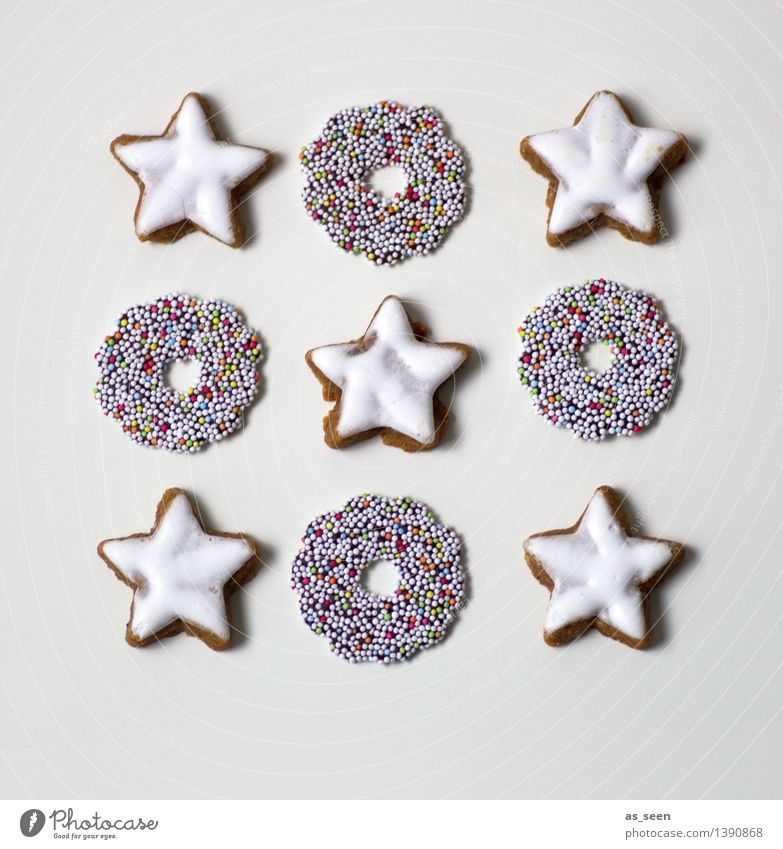 Christmas & Advent White Eating Food Brown Bright Design Arrangement Decoration Modern Esthetic Nutrition Creativity To enjoy Cooking & Baking Star (Symbol)