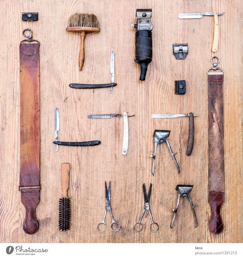 Tool Paintbrush Hairdresser Scissors Shave Razor Working equipment Super Still Life Hair Stylist Leather strip