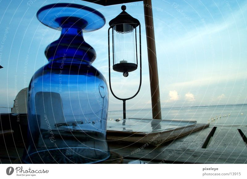 Water Sky Ocean Beach Lamp Glass Table Indonesia Bali