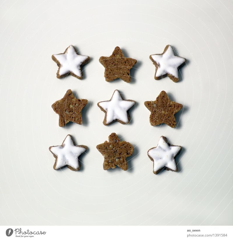Christmas & Advent White Eating Lifestyle Feasts & Celebrations Food Brown Bright Design Arrangement Decoration Nutrition Cooking & Baking Star (Symbol) Kitchen