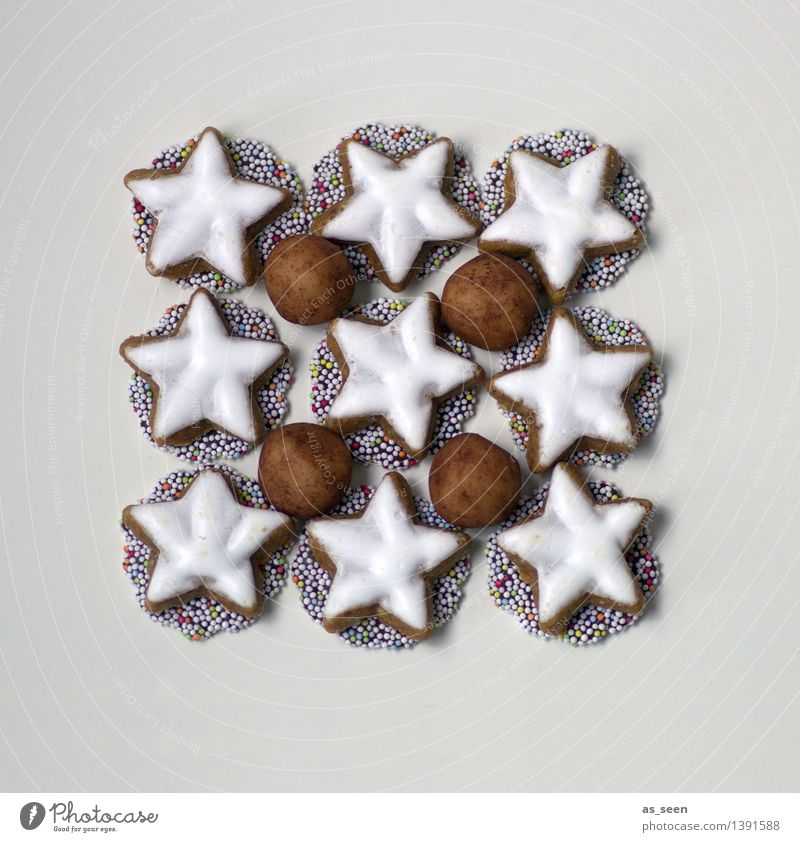 Christmas & Advent White Winter Food Brown Bright Design Arrangement Decoration Modern Esthetic Nutrition Cooking & Baking Sweet Star (Symbol) Kitchen