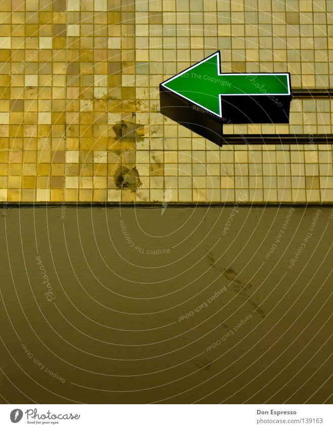 Line Brown Background picture Retro Clarity Point Advertising Tile Arrow Café Derelict Cologne Direction Signage Train station Illustration